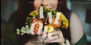 Partidas o certificados de matrimonio